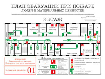 Главным требованием к планам эвакуации при пожаре было и остается доступность в понимании изображения схемы эвакуации...